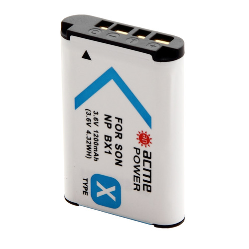 Фото - Аккумулятор ACMEPOWER AP-NP-BX1, Li-Ion, 3.6В, 1100мAч, для видеокамер SONY аккумулятор