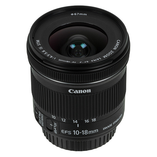 Объектив CANON 10-18mm f/4.5-5.6 EF-S IS STM, Canon EF-S [9519b005] цена
