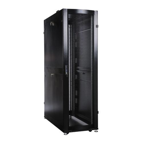 Шкаф серверный ЦМО (ШТК-СП-48.6.12-44АА-9005) 48U 600x1190мм пер.дв.перфор. 2 бок.пан. 1350кг черный