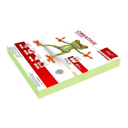 где купить Бумага Creative БПPR-250З A4/80г/м2/250л./зеленый пастель универсальная 10 шт./кор. дешево