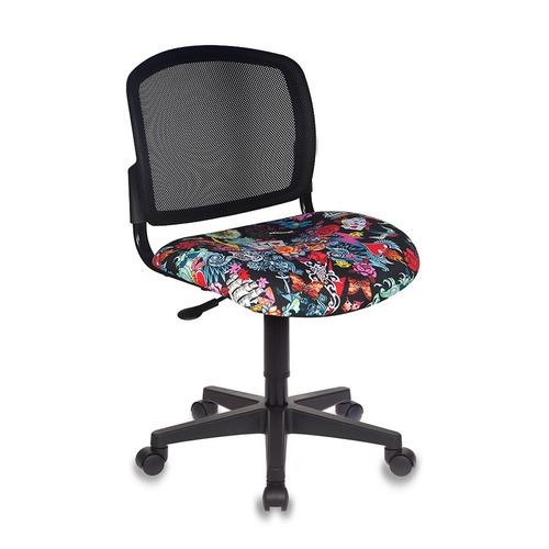 Фото - Кресло детское Бюрократ CH-296NX, на колесиках, сетка/ткань, черный [ch-296nx/tattoo] кресло бюрократ ch 296nx на колесиках сетка ткань бордовый [ch 296 dc 15 11]