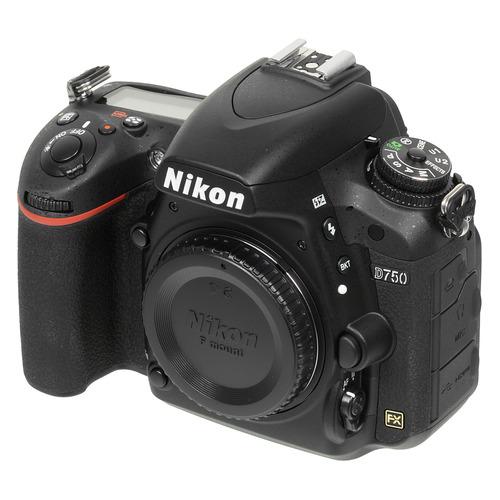 Зеркальный фотоаппарат NIKON D750 BODY body, черный фотоаппарат nikon d7200 body
