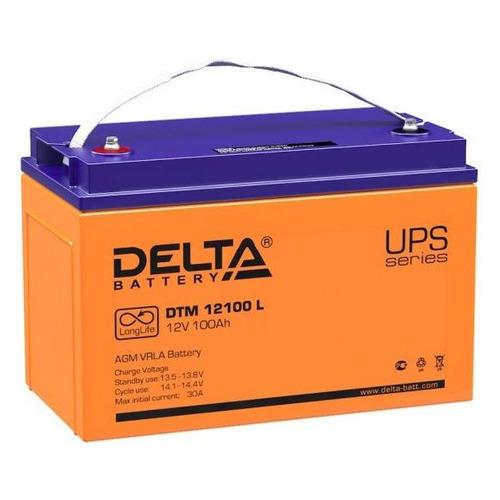 Аккумуляторная батарея для ИБП DELTA DTM 12100 L 12В, 100Ач