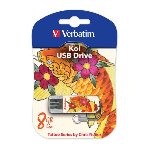Фото - Флешка USB VERBATIM Store n Go Mini Tattoo Koi 8Гб, USB2.0, белый и узор [49882] детский свитшот унисекс printio узор листьев