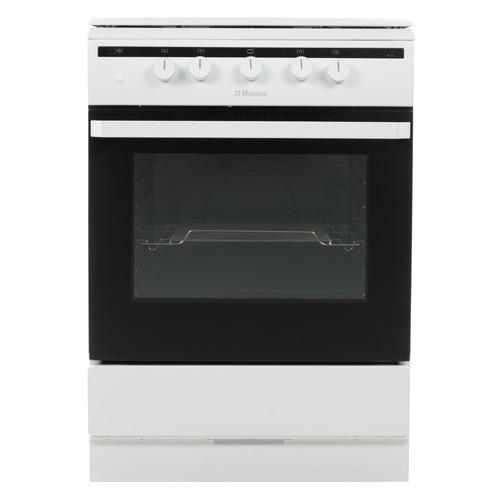 Газовая плита HANSA FCGW61000, газовая духовка, металлическая крышка, белый
