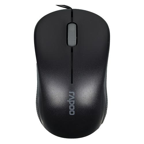 Мышь RAPOO N1130, оптическая, проводная, USB, черный [13742] rapoo x1800 usb black