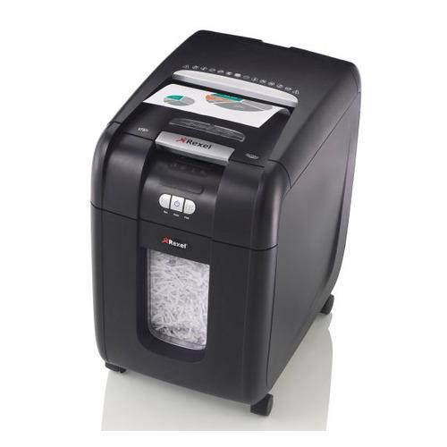 цена Уничтожитель бумаг REXEL Auto+ 200X, уровень 3, P-4, 4х40 мм [2103175eu] онлайн в 2017 году