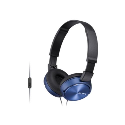 Наушники с микрофоном SONY MDR-ZX310AP, 3.5 мм, накладные, голубой [mdrzx310apl.ce7] наушники sony mdr zx310ap черные