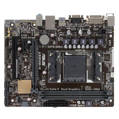 Материнская плата ASUS A68HM-K, Socket FM2+, AMD A68H, mATX, Ret asus a68hm plus
