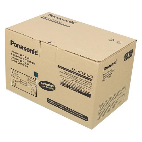 цена на Картридж (двойная упаковка) PANASONIC KX-FAT431A7D, черный