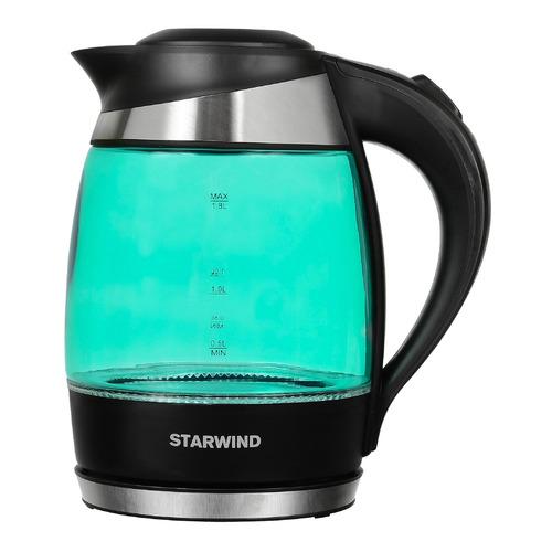 Фото - Чайник электрический STARWIND SKG2219, 2200Вт, бирюзовый и черный чайник электрический starwind skg2213 2200вт зеленый и черный