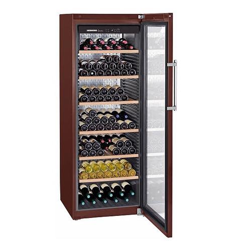 Винный шкаф LIEBHERR WKt 5552, однокамерный, коричневый встраиваемая морозильная камера liebherr uig 1323