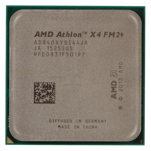 Процессор AMD Athlon II X4 840, SocketFM2+, OEM [ad840xybi44ja] процессор amd athlon x4 840 ad840xybjabox socket fm2 box